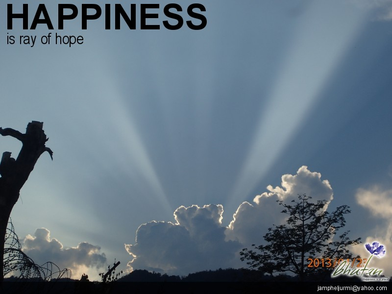 Happiness is ray of hope