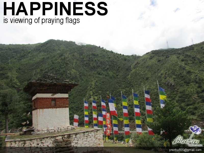 Happiness is viewing of praying flags