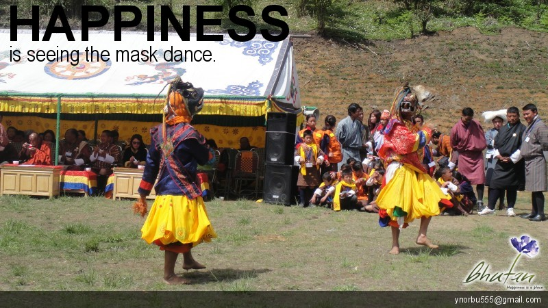 Happiness is seeing the mask dance.