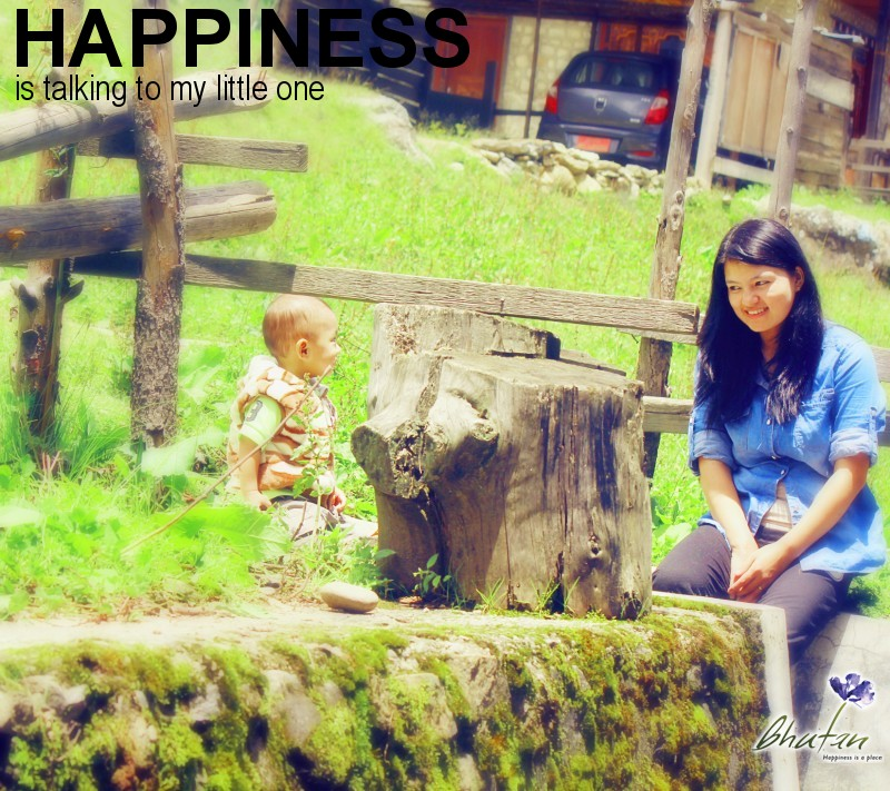 Happiness is talking to my little one