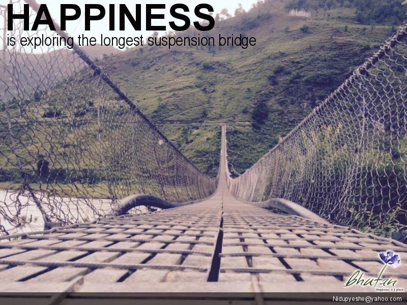 Happiness is exploring the longest suspension bridge