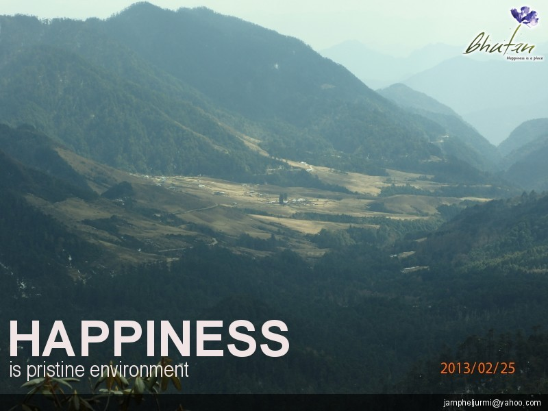 Happiness is pristine environment