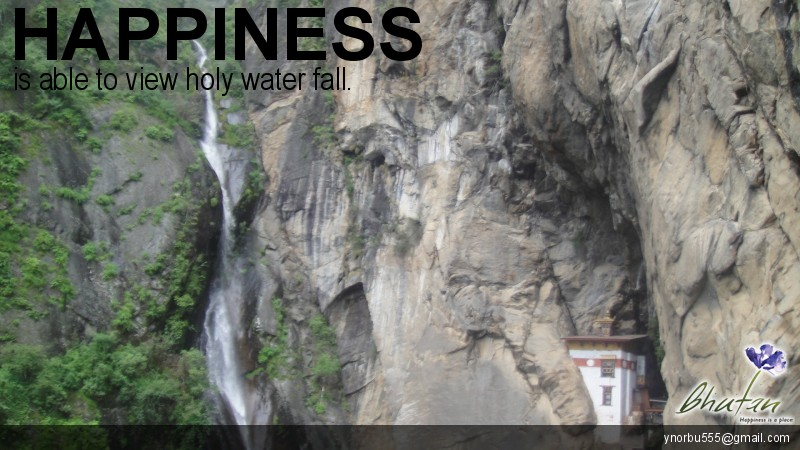 Happiness is able to view holy water fall.