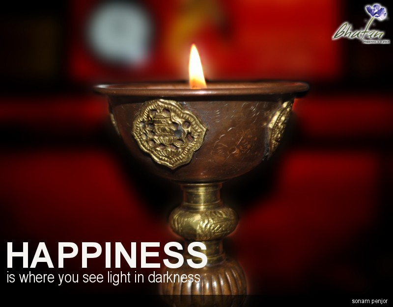 Happiness is where you see light in darkness
