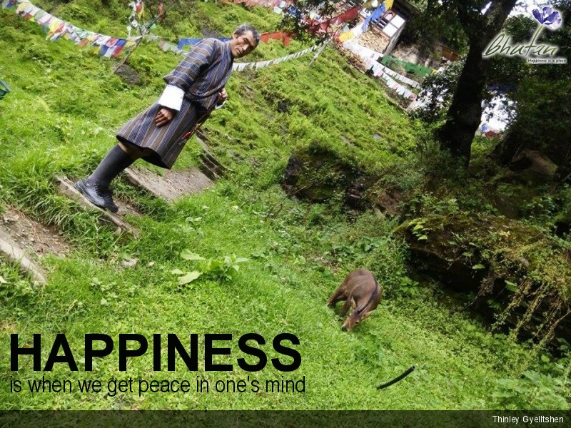 Happiness is when we get peace in one's mind