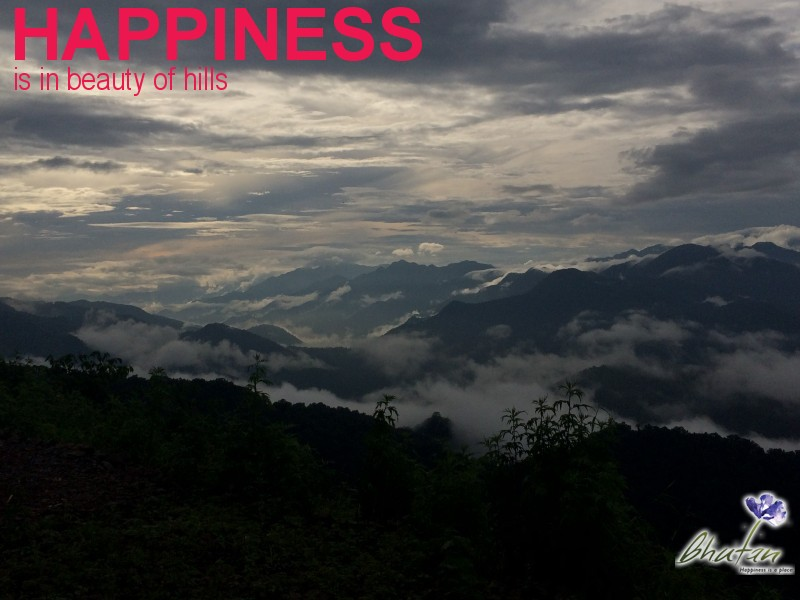 Happiness is in beauty of hills