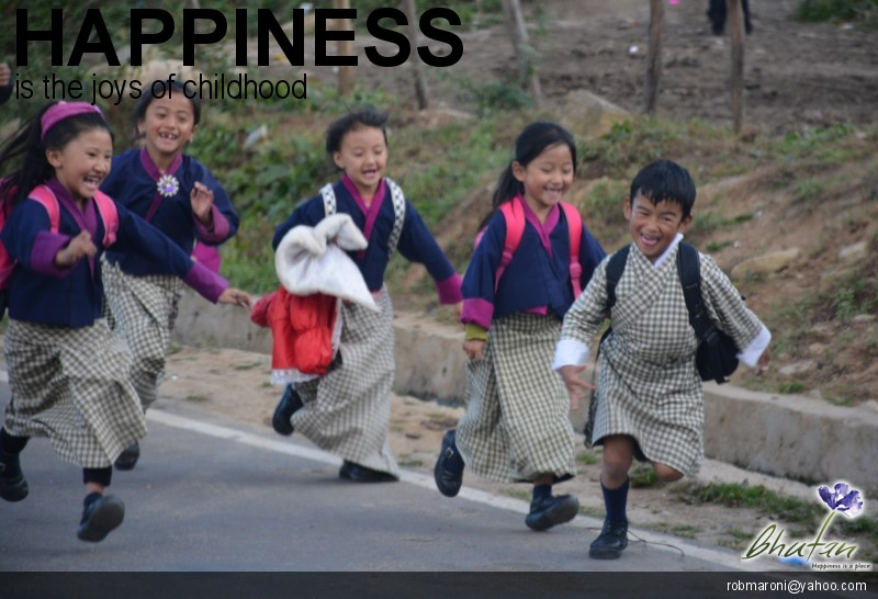 Happiness is the joys of childhood