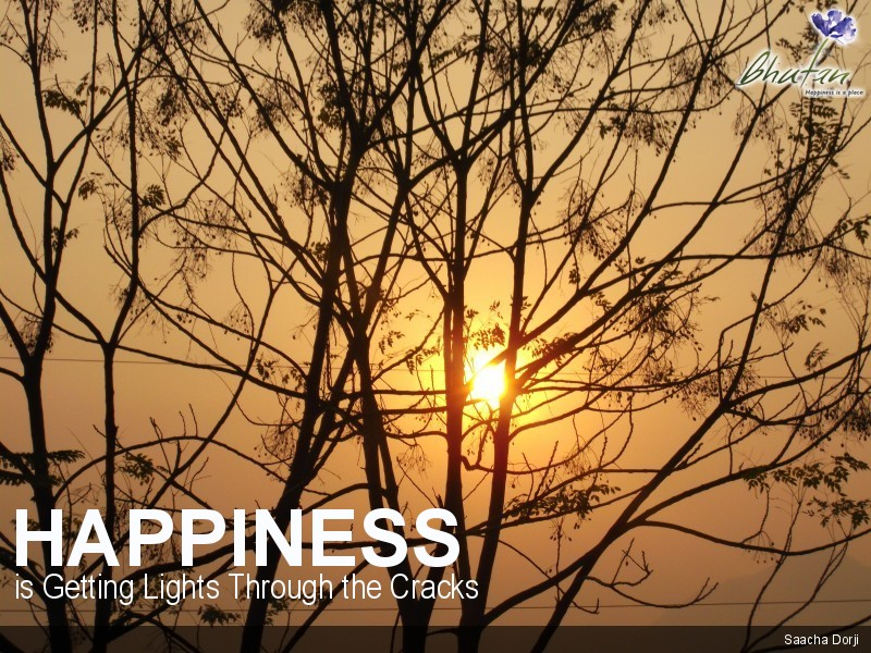 Happiness is Getting Lights Through the Cracks