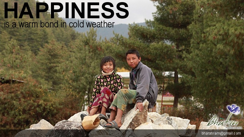 Happiness is a warm bond in cold weather