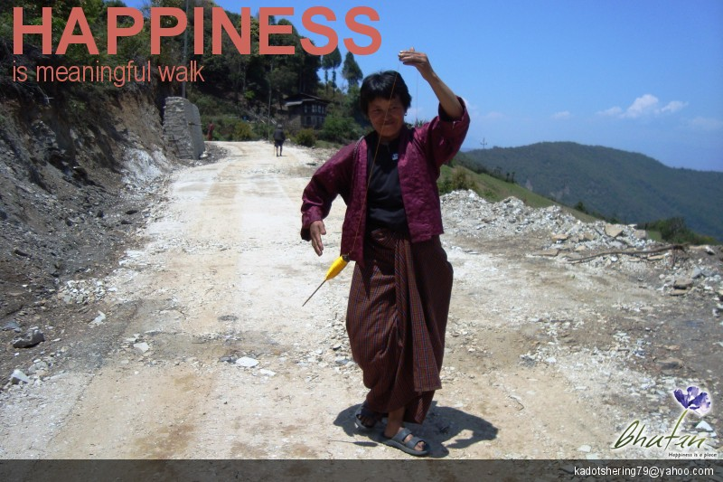 Happiness is meaningful walk