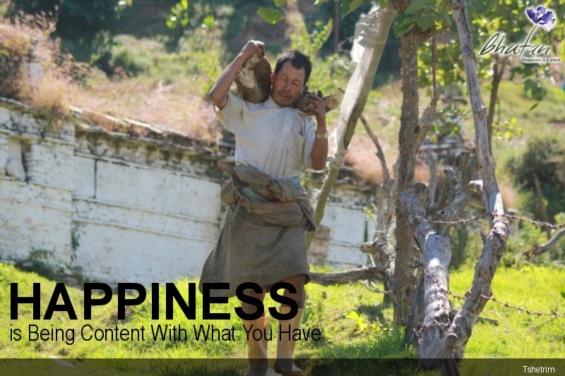 Happiness is Being Content With What You Have