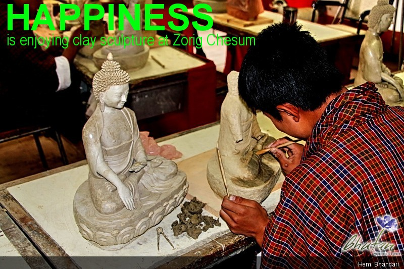 Happiness is enjoying clay sculpture at Zorig Chesum