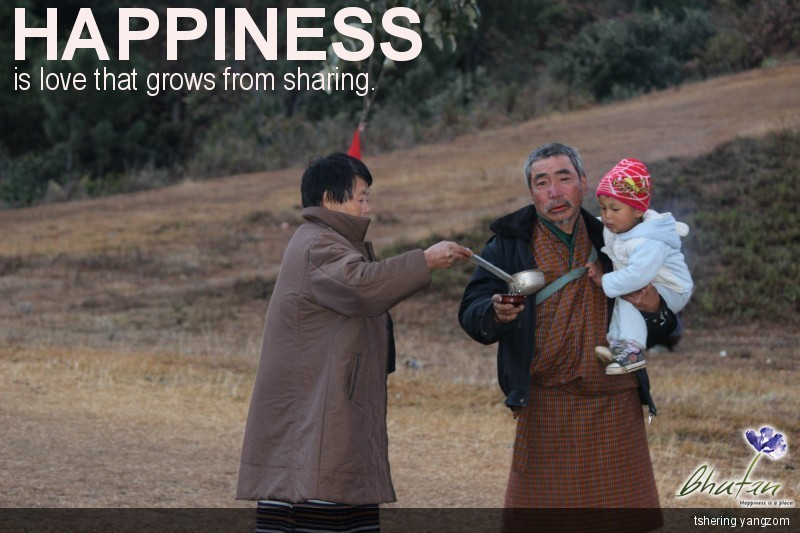 Happiness is love that grows from sharing.