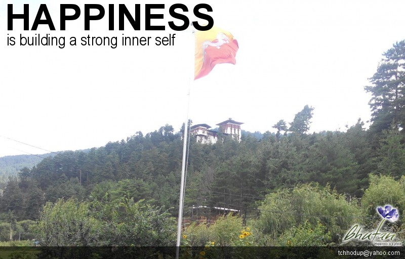 Happiness is building a strong inner self