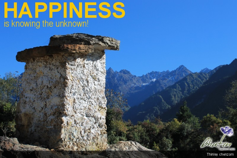 Happiness is knowing the unknown!