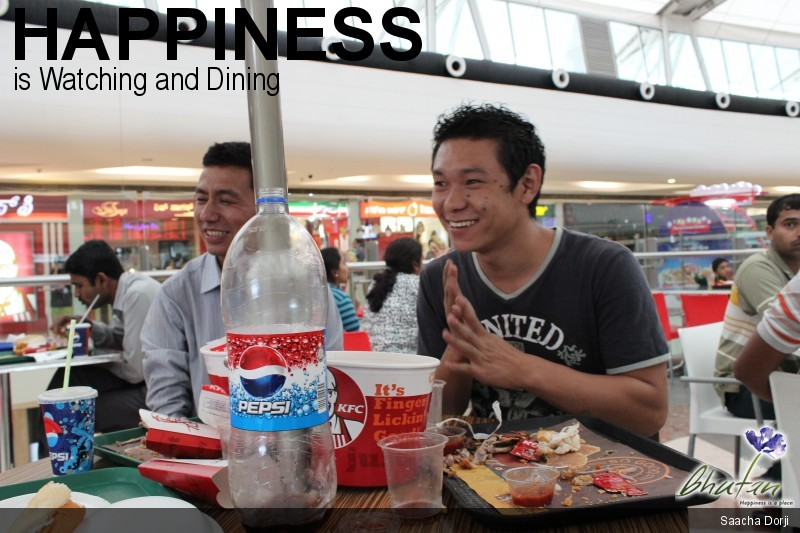 Happiness is Watching and Dining