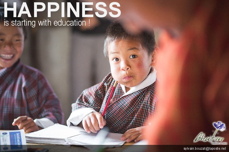 Happiness is starting with education !