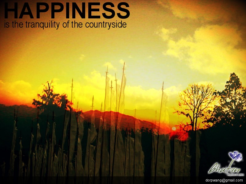 Happiness is the tranquility of the countryside