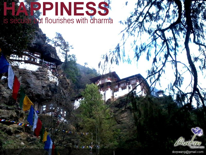 Happiness is secular but flourishes with dharma