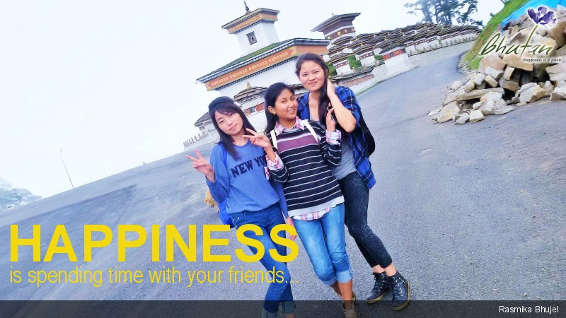 Happiness is spending time with your friends...