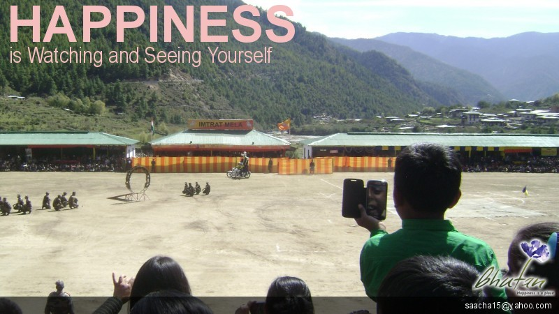 Happiness is Watching and Seeing Yourself