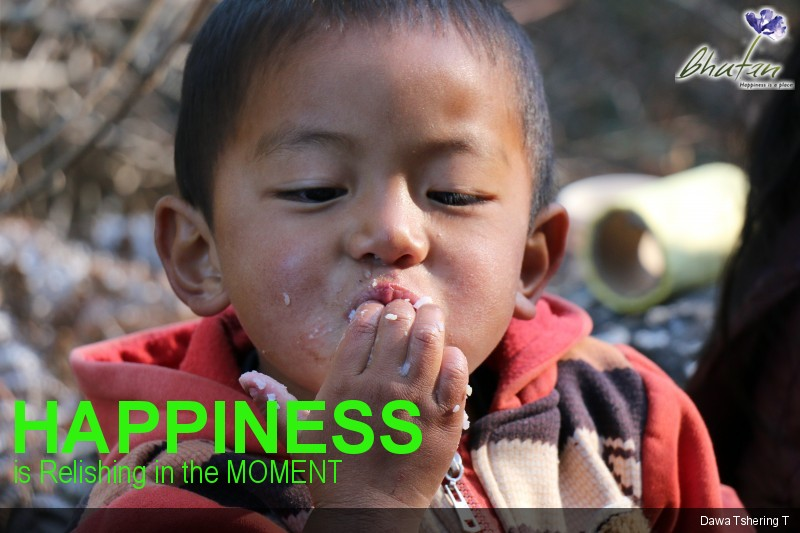 Happiness is Relishing in the MOMENT