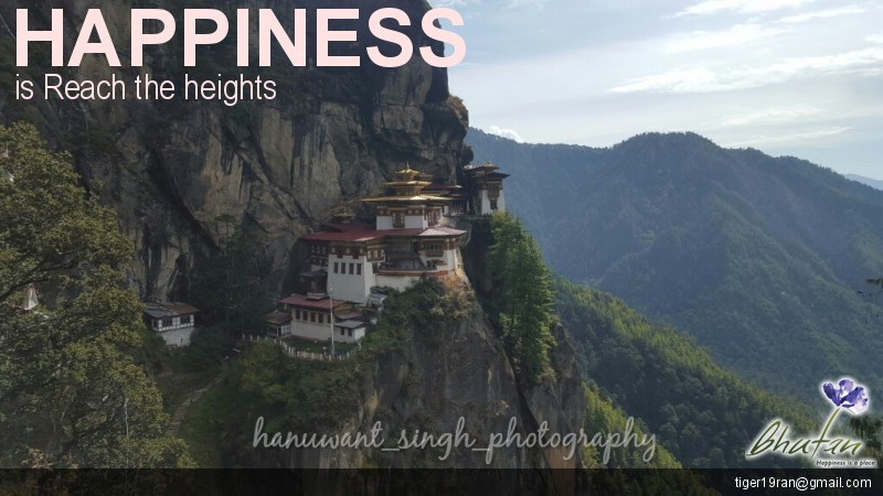 Happiness is Reach the heights