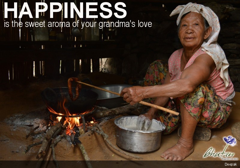 Happiness is the sweet aroma of your grandma's love