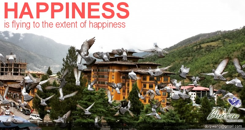 Happiness is flying to the extent of happiness