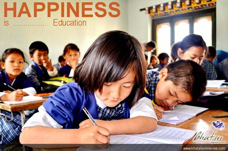 Happiness is  ................   Education
