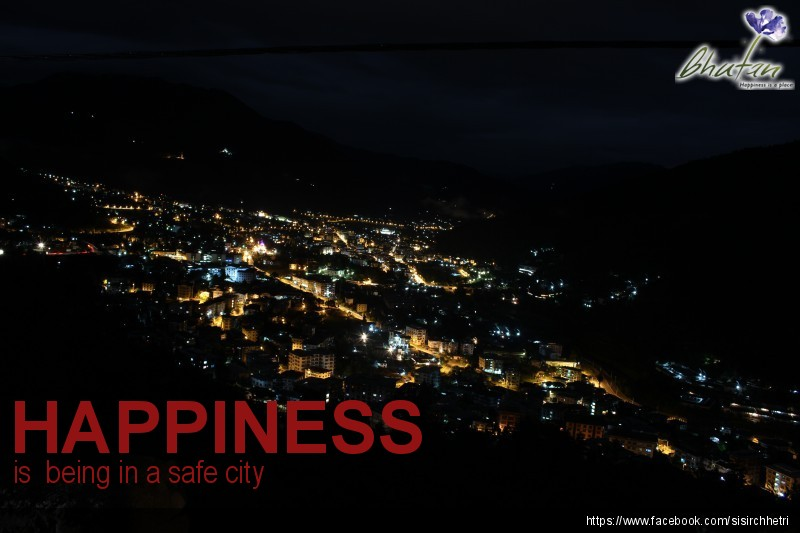 Happiness is  being in a safe city