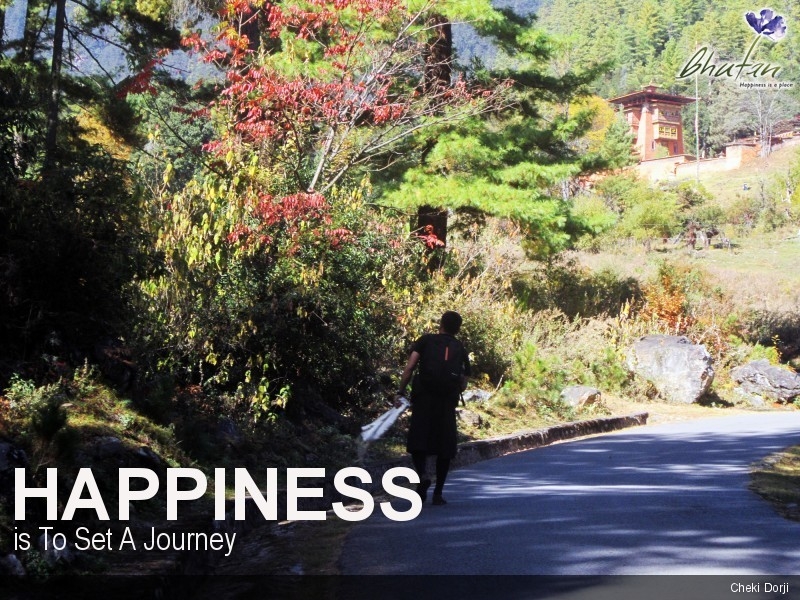Happiness is To Set A Journey