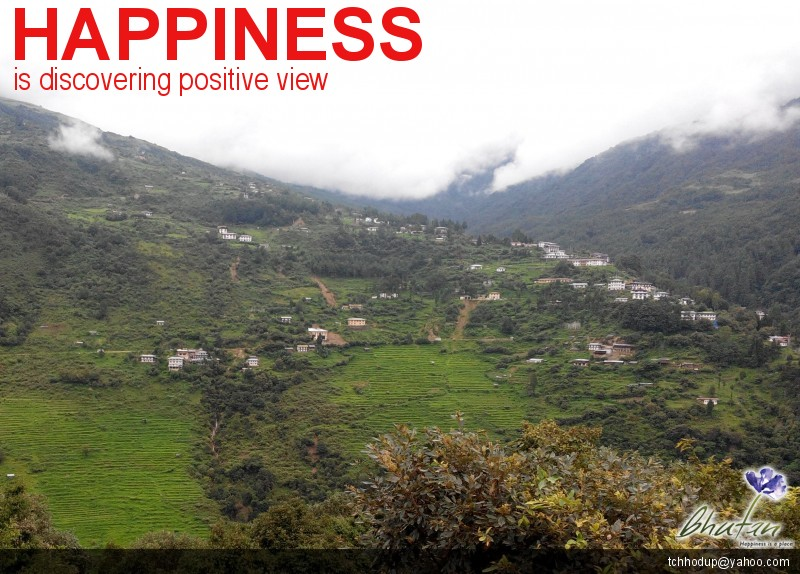 Happiness is discovering positive view