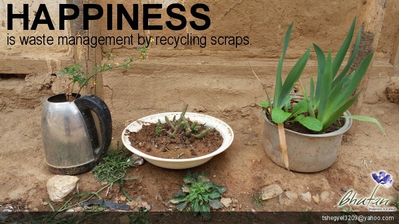 Happiness is waste management by recycling scraps.