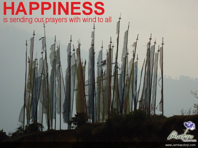 Happiness is sending our prayers with wind to all