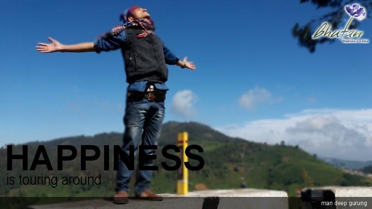 Happiness is touring around