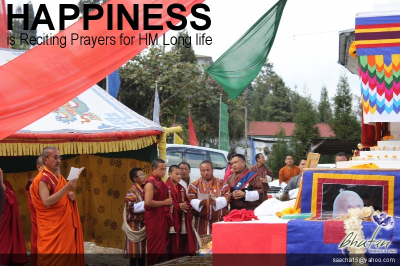 Happiness is Reciting Prayers for HM Long life
