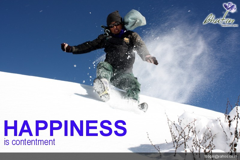 Happiness is contentment