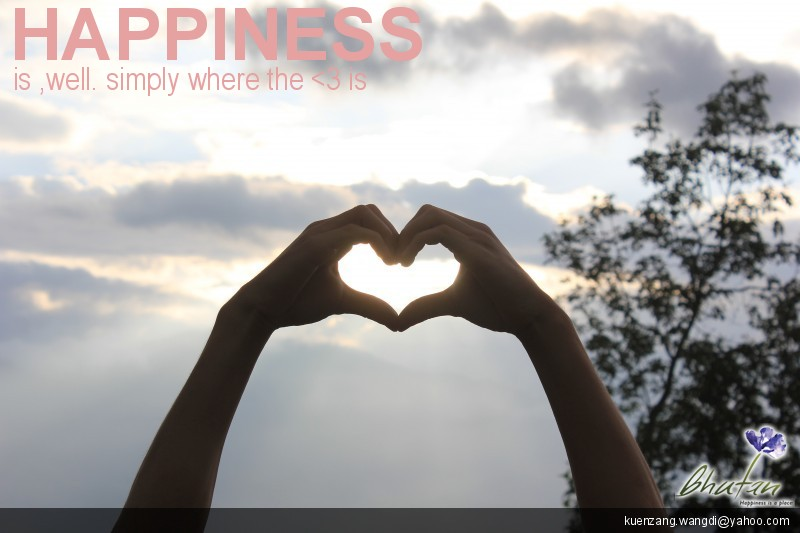 Happiness is ,well. simply where the <3 is