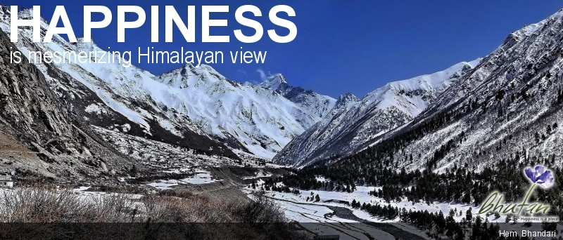Happiness is mesmerizing Himalayan view