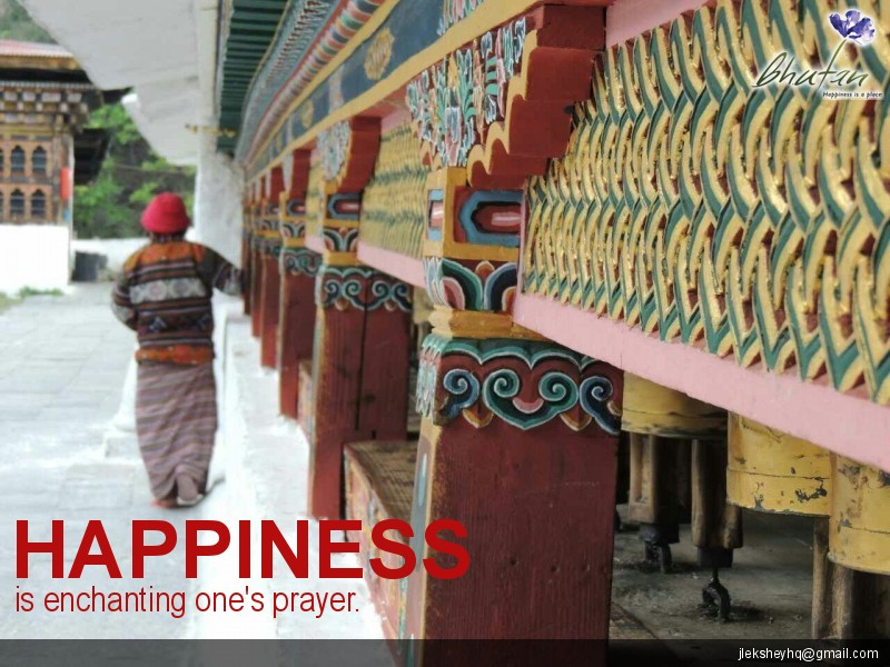 Happiness is enchanting one's prayer.