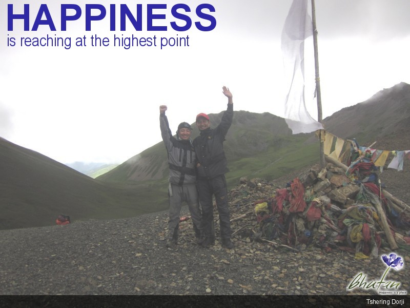 Happiness is reaching at the highest point