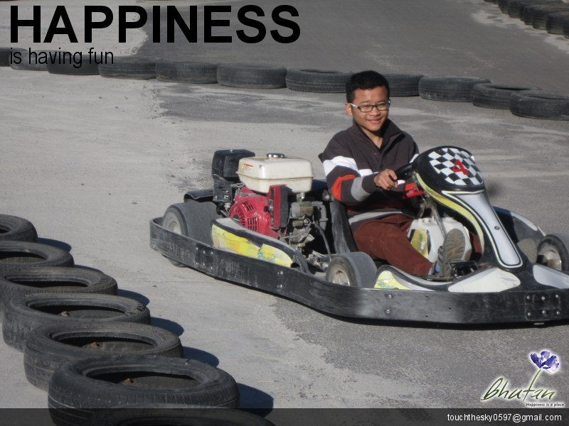 Happiness is having fun