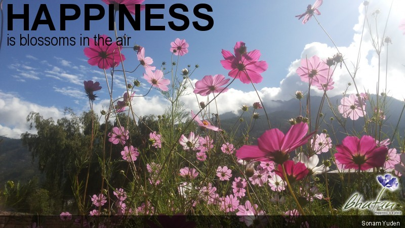 Happiness is blossoms in the air