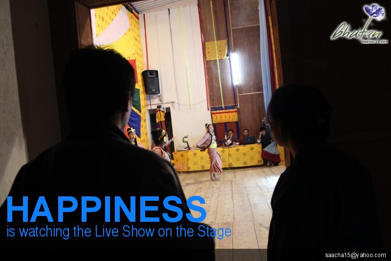 Happiness is watching the Live Show on the Stage