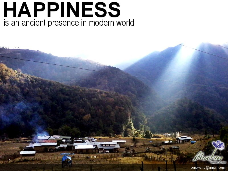 Happiness is an ancient presence in modern world