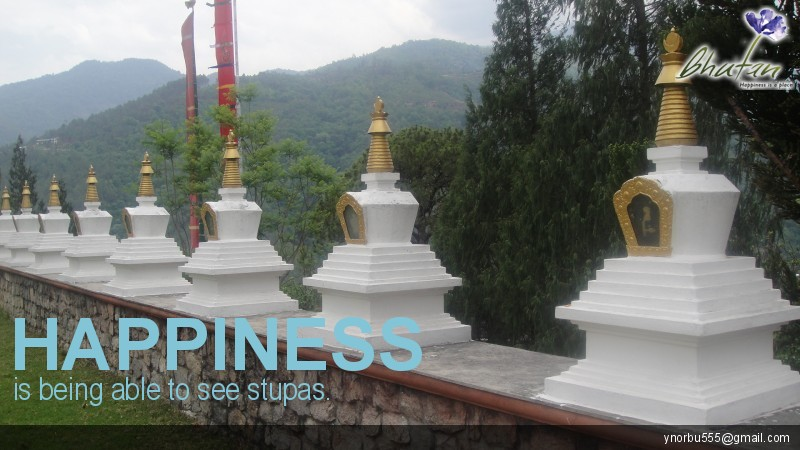 Happiness is being able to see stupas.