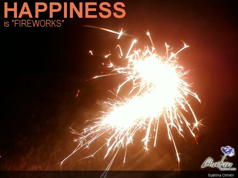 "Happiness is ""FIREWORKS"""