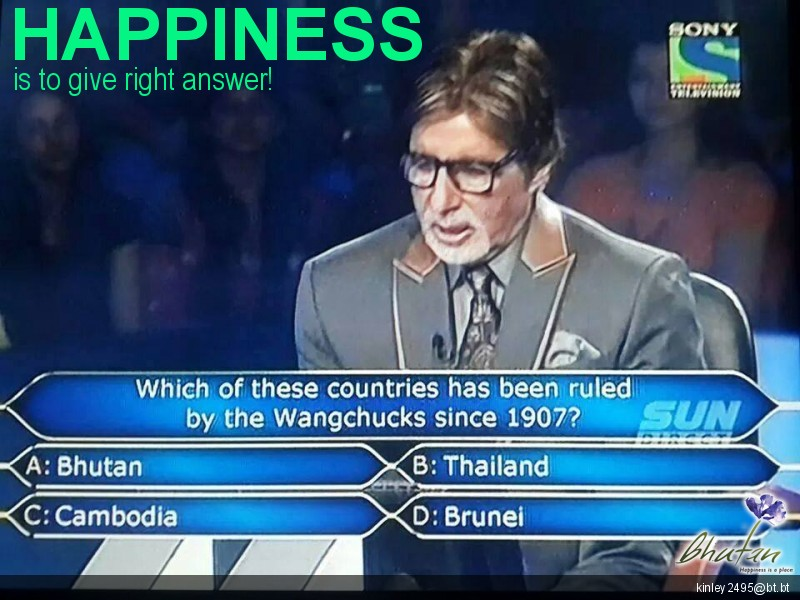 Happiness is to give right answer!