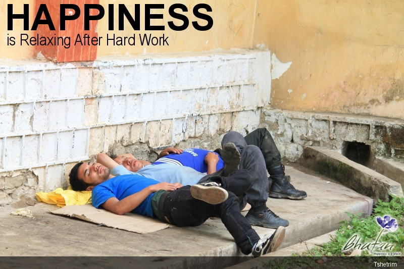 Happiness is Relaxing After Hard Work